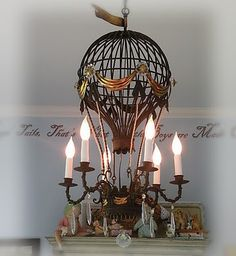 Parisian-style hot air balloon chandelier . . . how can that be wrong?!