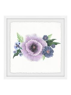 Lovely Purple (Framed Giclee) by Marmont Hill at Gilt. Lovely piece to feature in a room needing a slight pop of pastel color or flower décor on this wall. #affiliatelink #flowerart #purpleflower #purpleart