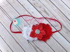 Red White Headband  Fall Baby Headband  by SweetLittleAleena, $9.95