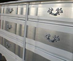 silver streaked painted dresser