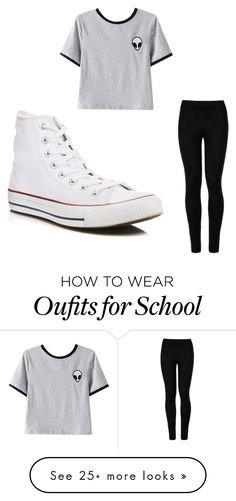 """School Day!"" by cait0528 on Polyvore featuring Chicnova Fashion, Wolford and Converse"