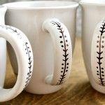 Trendy Coffee Art Diy Sharpie Mugs Pottery Painting, Ceramic Painting, Diy Painting, Painting On Mugs, Sharpie Crafts, Diy Sharpie Mug, Mug Decorating Sharpie, Sharpie Plates, Mug Noel