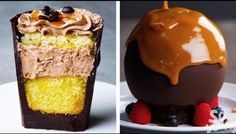 These amazing chocolate decoration ideas will warm your heart this fall I Recipes by So Yummy Köstliche Desserts, Chocolate Desserts, Dessert Recipes, Chocolate Chips, Yummy Snacks, Yummy Treats, Delicious Desserts, Yummy Food, Food Cakes