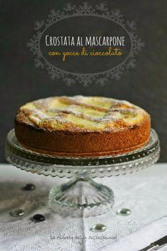 Crostata cake with Mascarpone delicious,by Antonella V. Italian Cake, Italian Cookies, Italian Desserts, Italian Recipes, Pastry Recipes, Cookie Recipes, Plum Cake, Ricotta, Sweet Recipes