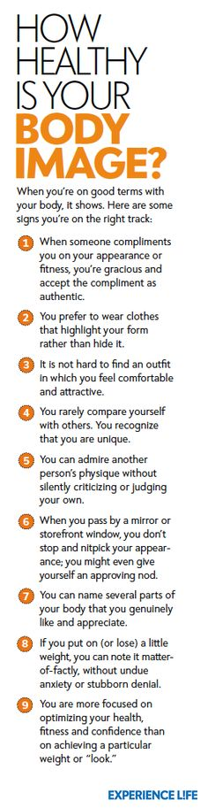How Healthy Is Your Body Image? When you're on good terms with your body, it shows. Signs you're on the right track.