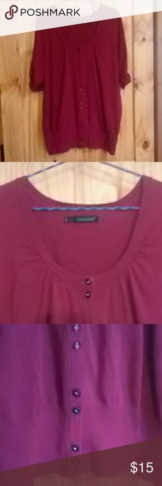 Maurice's Top Maroon Maurice's top. Like new. Maurices Tops Button Down Shirts