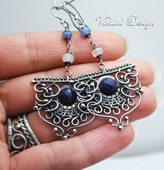 Eclipse- Fine/sterling silver and sapphires earrings by VaniniDesign, via Flickr