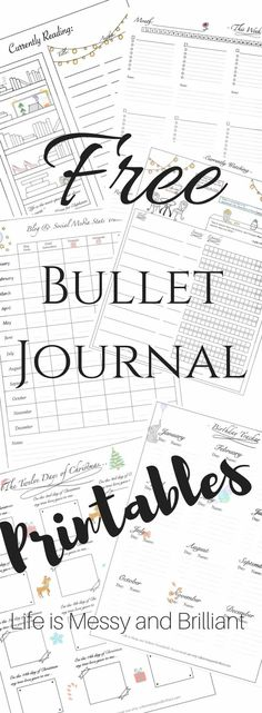 FREE bullet journal printables and PDF templates to help you organize your planner. Each bullet journal printable is filled with colorful images and flowers to add a touch of feminity to your planner. Key Bullet Journal, Bullet Journal Stickers, Planner Bullet Journal, Bullet Journals, Bullet Journal Calendar Ideas, Bullet Journal Layout Ideas, Bullet Journal Birthday Tracker, Bullet Journal Inserts, Making A Bullet Journal