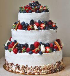 свадебный торт корзина с фруктами - Поиск в Google Cupcake Cakes, Cupcakes, Fruit Cakes, Fruits And Veggies, Wedding Cakes, Food And Drink, Sweets, Baking, Desserts