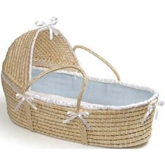 Moses Basket with Hood  - Solid