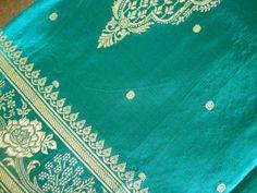 Vintage Heavy Pure Silk Brocade Sari by bijouxtradingcompany, $30.00