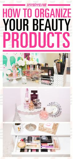 Getting ready in the morning is SO much easier when you can actually find what you need. Start by tossing any expired products (check out this handy breakdown to find out when you should throw out your beauty products). Keep all your makeup, nail polishes, lotions, and tools handy and give your vanity a serious upgrade with these super-chic organizing ideas.