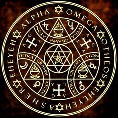 Alpha Omega Enochian Magic Sigil