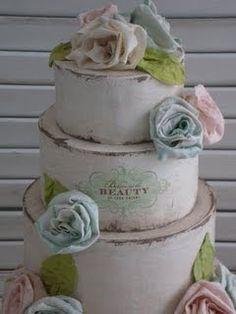 shabby chic display pinterest   Shabby Chic: La torta