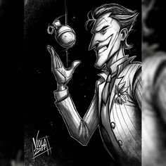 The still image of the quick #joker digital #sketch I did yesterday hope you like it and if you have suggestions to what you would like to see me draw post it below #sketches #art #artist #artofinstagram #inking #handdrawn #pencil #ink #originalart #scribble #draw #drawing #drawings #illustration #illustrations #comics #drawingoftheday #doodle #procreate #traditional #concept #dccomics #batman #villain #rogue #theclownprinceofcrime
