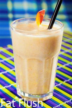 Peach Melba Smoothie- Official Fat Flush Recipe