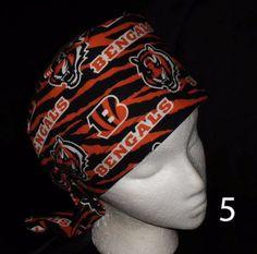 Cincinnati Bengals Ladies Nurses Surgical Scrubs Hats Scrub Caps Pixie Tie Back Caps