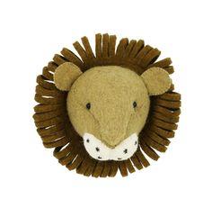 Nursery Nook, Project Nursery, Nursery Decor, Truro, England Lions, Fiona Walker, Cute Lion, Animal Heads, Felt Animals