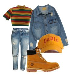 """Untitled #2941"" by ma-rae ❤ liked on Polyvore featuring Timberland"