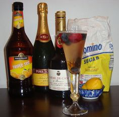 Fourth of July Champagne Cocktail.  Truly celebrate our independence with the bubbly.  Happy Birthday #America   #VIKINGUSA