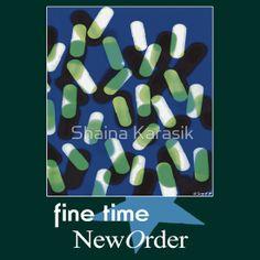 New Order 1989 Fine Time Peter Saville Poster by Shaina Karasik