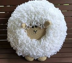 Crochet Sheep Pillow Pattern by SharpinDesigns on Etsy Crochet Sheep, Crochet Santa, Crochet Cross, Crochet Home, Crochet Baby, Knitting Patterns, Sewing Patterns, Crochet Patterns, Felt Keychain