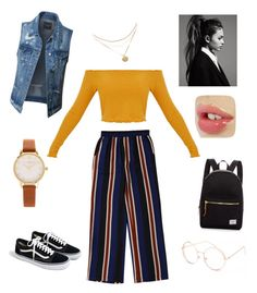 """""""I come alive in the fall time"""" by trixie-lott ❤ liked on Polyvore featuring J.Crew, LE3NO, Olivia Burton, Full Tilt and Herschel Supply Co."""