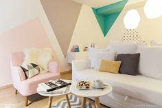 Pintar las paredes con formas geométricas