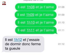 Il est et je t'aime - Be-troll - Photo Funny Sms, Funny Texts, Funny Jokes, Rage, English Jokes, Lol, Image Fun, French Quotes, Geek Humor