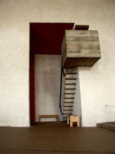 Architecture : France, chapelle Ronchamp, par Le Corbusier, 1955