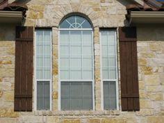 Austin Texas Homes   Exterior Window Shutters