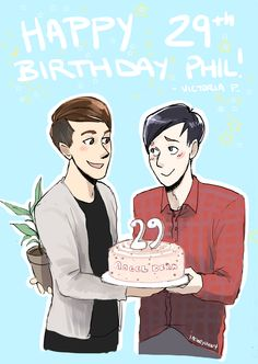 DAN EVEN HAS A FREAKING PLANT FOR PHIL'S PRESENT XD