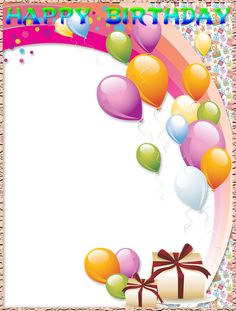 Birthday is a day of presents Happy Birthday Blue, Happy Birthday Frame, Happy Birthday Wallpaper, Happy Birthday Photos, Gift Box Birthday, Birthday Frames, Happy Birthday Balloons, Happy Birthday Wishes, Birthday Greetings