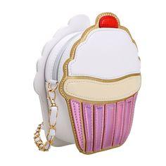 Black Cute Ice Cream Cupcake Shape Mini Crossbody Bag 2e2af34e4a3a3