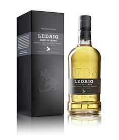 Ledaig 10 Year old - an excellent redesign by Good Creative, Glasgow