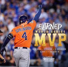 George Springer 2017 World Series MVP Houston Astros Baseball Tips, Baseball Games, Baseball Players, Baseball Stuff, Baseball Hat, Baseball Scoreboard, Baseball Necklace, Sports Baseball, Astros World Series