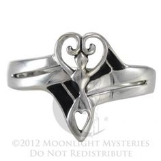 Celtic Pentacle Ring Pagan Wiccan Goddess Irish SS Sterling Silver sz 4-15
