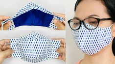 DIY Face Mask | NO FOG on Glasses Face Mask Sewing Tutorial Free Easy Pattern - YouTube