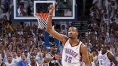 The Oklahoma City Thunder claimed a spot in the NBA finals by beating the San Antonio Spurs 107-99. The franchise will play for the NBA title for the first time since 1996, before relocating from Seattle. (via AP)