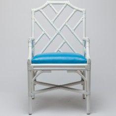 Tori Arm Chair-White Bamboo
