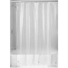 InterDesign Vinyl Shower Curtain Liner, White
