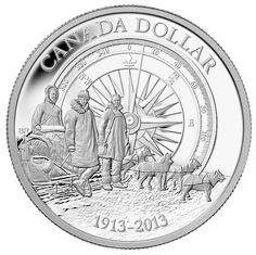 Canadian Arctic Expedition Proof Silver Dollar Coin | This flagship of the Mint's collector coin program celebrates another milestone of Canadian history by reviving the fascinating story of intrepid explorers, mapping Canada's Far North and studying its people, wildlife, and resources to gain knowledge and understanding of previously unseen and unvisited parts of our planet.