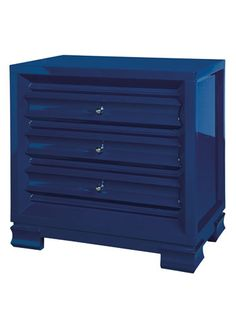 A little bit of blue can go a long way with this lacquered chest of drawers