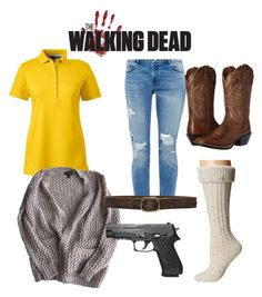 """""""The walking dead Beth outfit"""" by emilyschroeer on Polyvore featuring Mode, Lands' End, Topshop, Ted Baker, B-Low the Belt, Ariat und UGG"""
