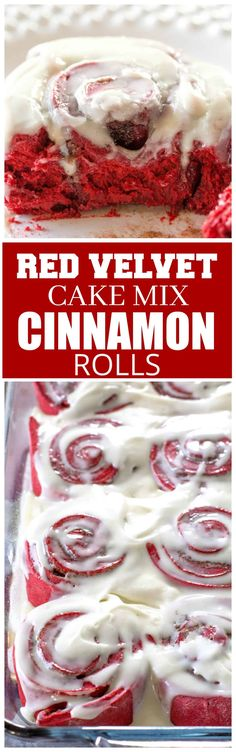 This Red Velvet Cake Mix Cinnamon Rolls recipe is easier than your from scratch rolls but taste just as good.