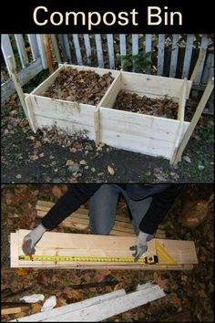 Building your own compost bin is a great way to reduce household waste and improve your garden's soil quality. This DIY build is a sturdy, rodent, and rot-free container for all your compost. It's made from reclaimed timber, and you can build it in one day if you have the right tools! insert SM copy here Diy Garden Projects, Easy Diy Projects, Home Projects, Build Compost Bin, Organic Nutrients, Kitchen Waste, Garden Beds, Farming, Bees