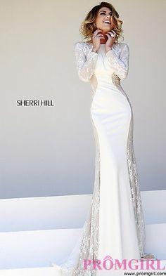 Floor Length Long Sleeve Prom Dress at PromGirl.com
