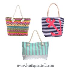 New Arrival Totes at Estella! Perfect for Summer!!
