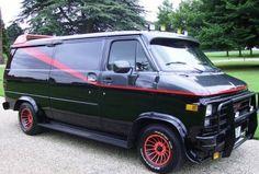 A-Team Van [ I think BA called it Baby ] '83 GMC Vandura cargo van A Team Van, Cargo Van, The A Team, Favorite Tv Shows, Movie Cars, Vehicles, Trucks, Movies, Baby