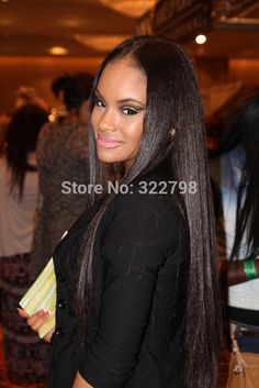 Yaki straight Brazilian virgin human hair glueless full lace wigs with natural color for black women 130-150density in stock